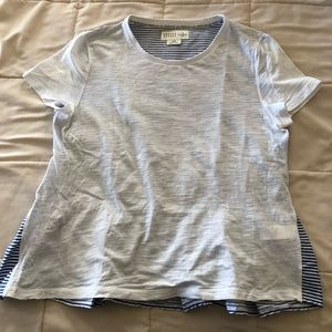 Kate Spade top ruffle back t shirt front size Med